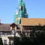 Stiftskirche im Gerüst